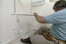 installing shoe racks for the wire closet organizing system