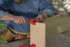 hold joints with corner clamps while you build a cornice box