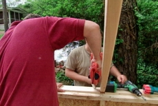 spacing the solar garden shed's roof trusses
