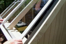 installing windows in the solar garden shed roof