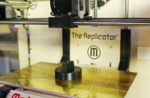 MakerBot 3D printer in action