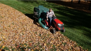 Power Rake Sucks Up Leaves, Clippings and Lawn Debris Amazingly Fast