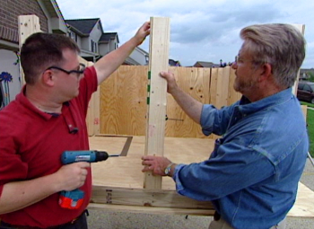 Ron helping build a doghouse