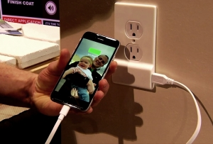 New Electrical Outlet Cover Plate has Built-in Phone Charger