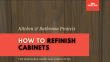 Refinish Your Cabinets - No Stripping!
