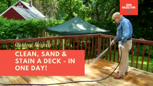 A Simple Way to Restore a Deck in a Few Hours