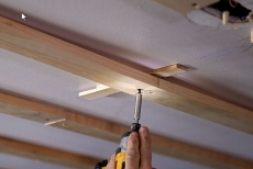 Shimming furring strips for copper ceiling tile installation