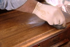rinsing residue from the antique furniture