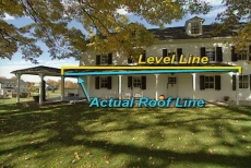 level line and actual roof line
