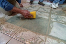 cleaning tile