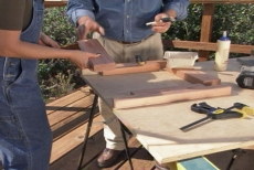 assembling the planter bench end frames