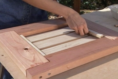 adding keepers to the planter bench end frames