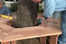 Astonishing Learn How To Build A Bench Around A Tree Ron Hazelton Creativecarmelina Interior Chair Design Creativecarmelinacom