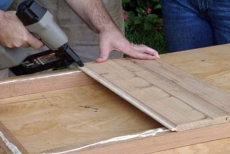 nailing cedar tongue-and-groove facing on frames