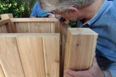 attaching four sides of planter box