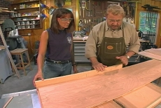 Using a cradle with the table saw