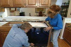 hooking up the dishwasher before installing the granite countertop