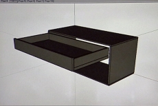 designing the pull-out shelves for pots and pans