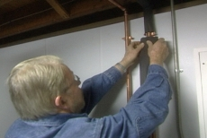 insulating the hot water pipes