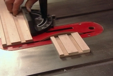 cutting the side components to length