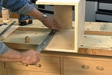 installing half of a drawer glide