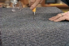 cutting carpet