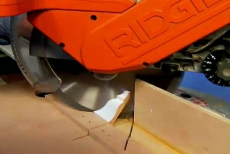 cutting molding with a miter saw