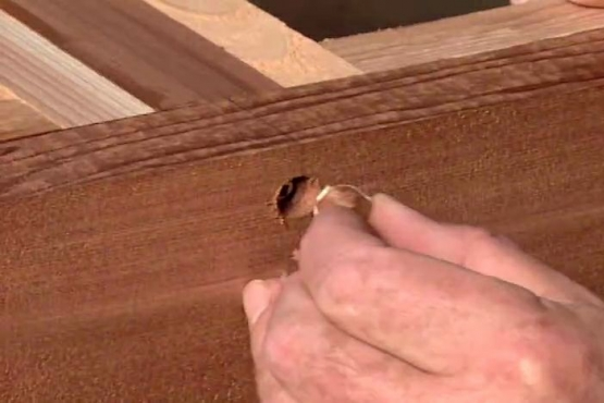 How to Hide Screw Holes with Wood Plugs