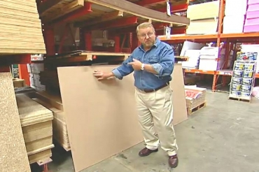 sheet of particle board