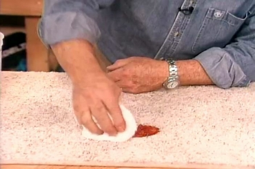removng ketchup from carpet
