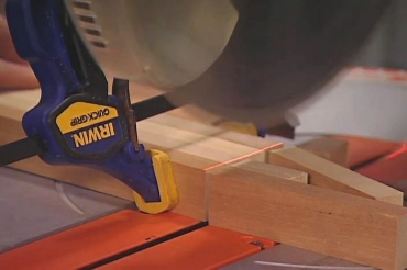 cutting clamped wood