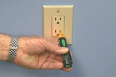 testing an electrical outlet