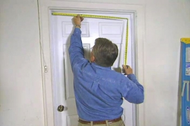 measuring the door