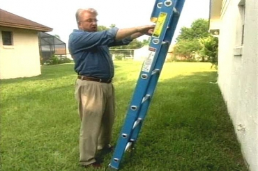 Using an extension ladder