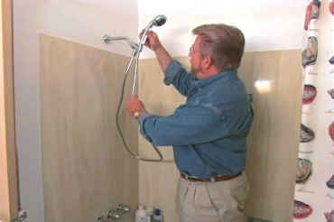 removing the old showerhead