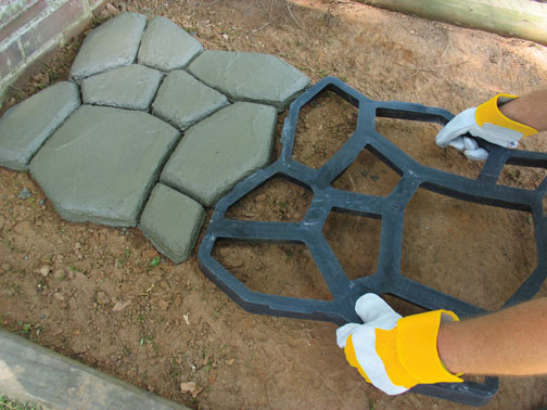 Make Your Own Custom Walkway with Reusable Concrete Forms