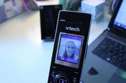 Using the VTech IS7121-2 video doorbell phone handset