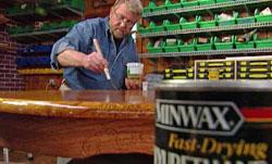 Applying Minwax polyurethane finish using a brush