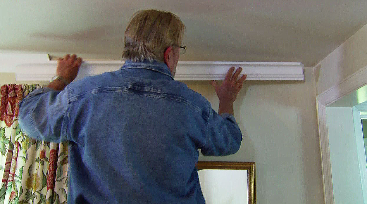 Polystyrene Crown Molding Looks Great And Goes Up Without