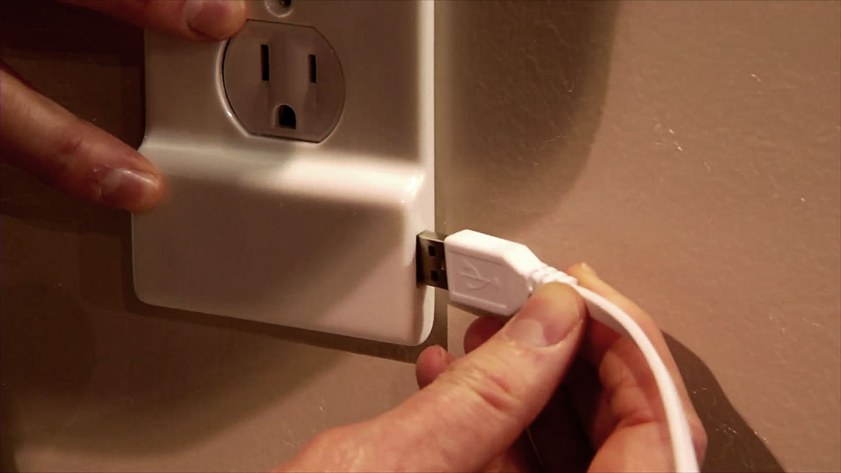 Outlet Plugs And Plate Covers New Electrical Outlet Cover Plate Has Builtin Phone Charger • Diy