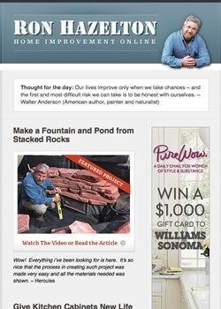 Ron's Weekly Email Newsletter