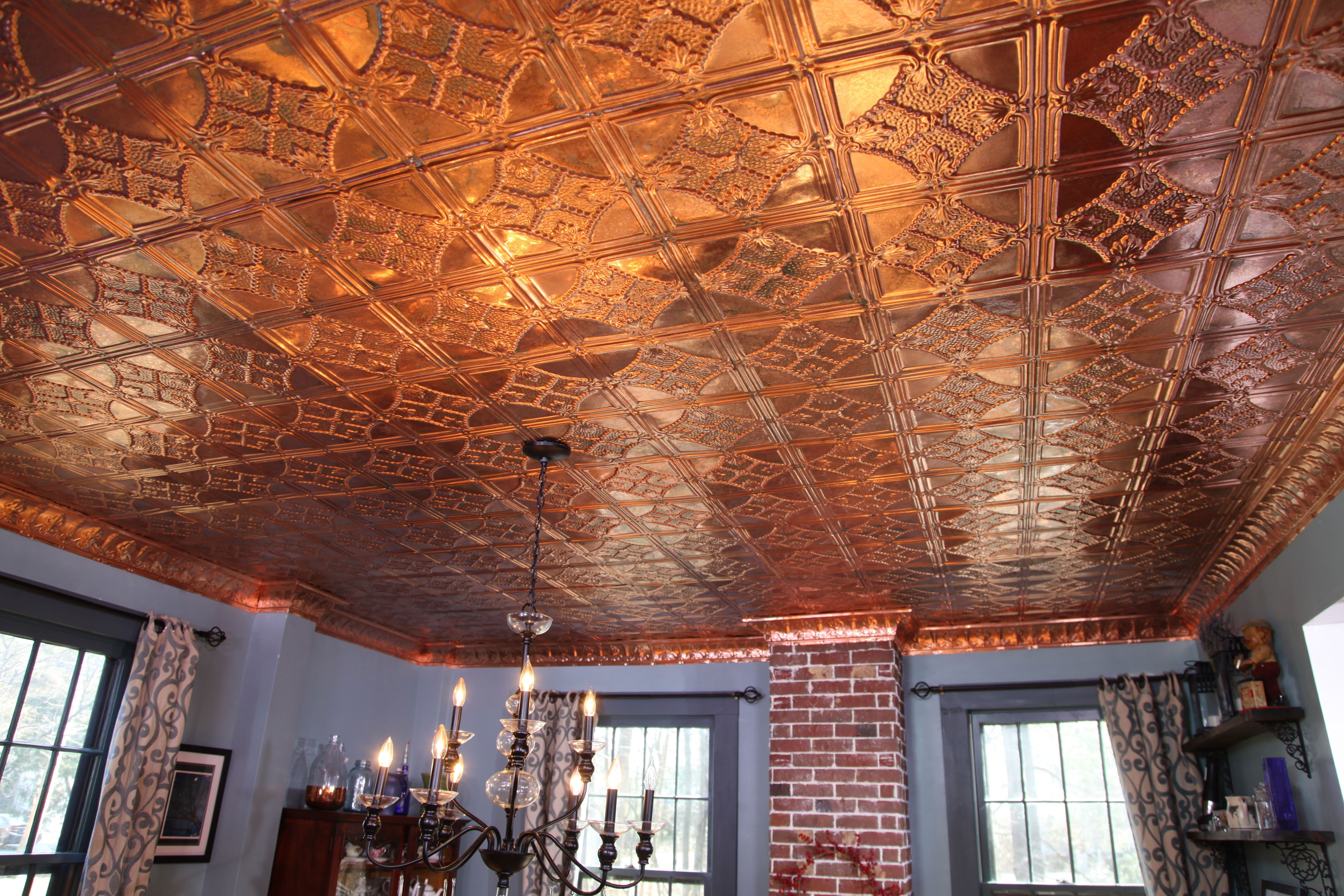 How To Install A Copper Stamped Metal Ceiling Ron Hazelton