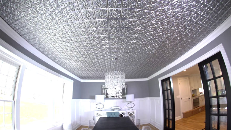How To Install Metallic Ceiling Tiles Ron Hazelton