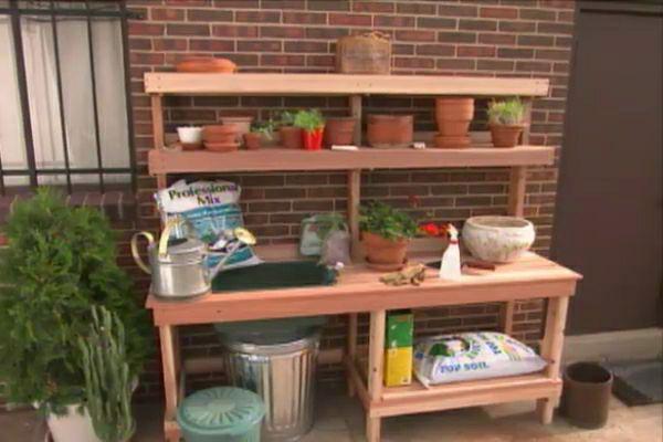 How to Build a Garden Potting Bench • Ron Hazelton