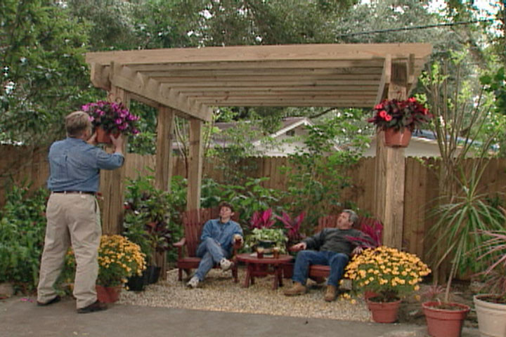 How To Build A Free Standing Pergola Ron Hazelton