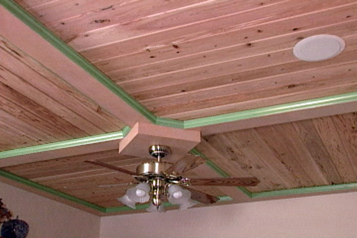 How To Put Up A Wood Ceiling Using Tongue And Groove