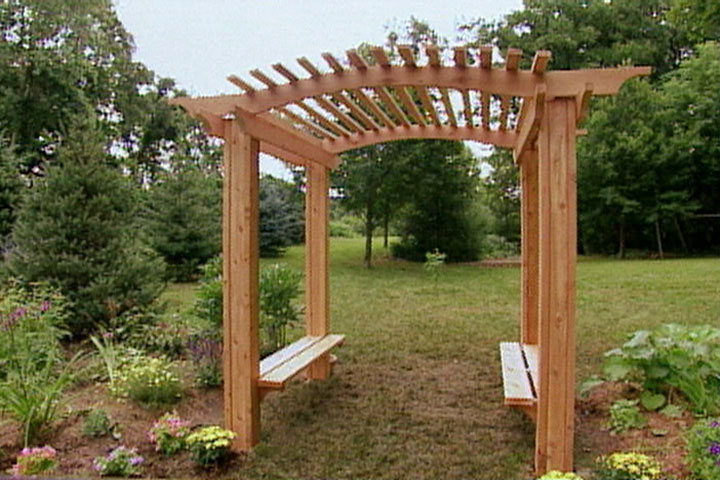 Do It Yourself Home Design: How To Build A Wood Arbor For Garden Or Yard • Ron Hazelton