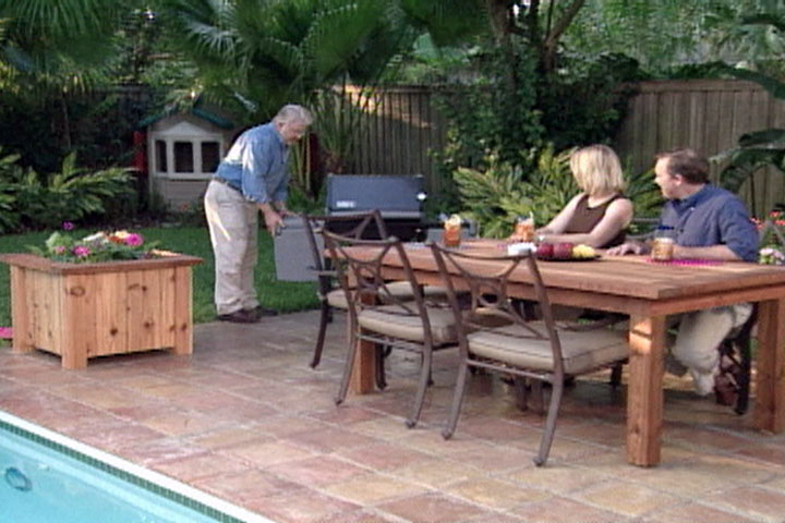 How To Build An Outdoor Table And Planter Boxes Ron Hazelton