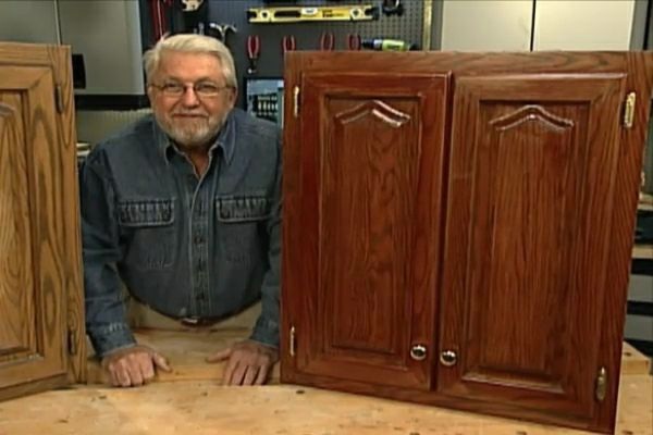 How To Refinish Kitchen Cabinets Without Stripping Diy Projects Videos